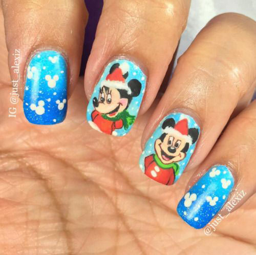 Christmas-Disney-Nails-Art-Designs-2019-2