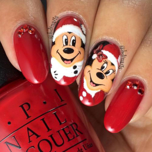 Christmas-Disney-Nails-Art-Designs-2019-3