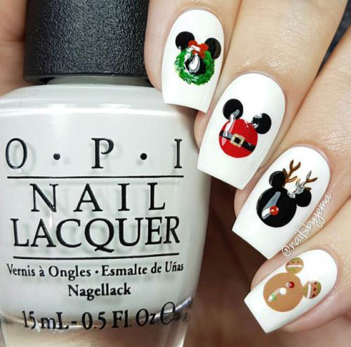 Christmas-Disney-Nails-Art-Designs-2019-4