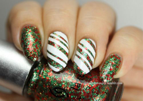 Christmas-Glitter-Nail-Art-Designs-2019-Xmas-Nails-12