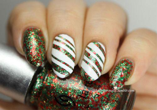 Christmas-Glitter-Nail-Art-Designs-2019-Xmas-Nails-12
