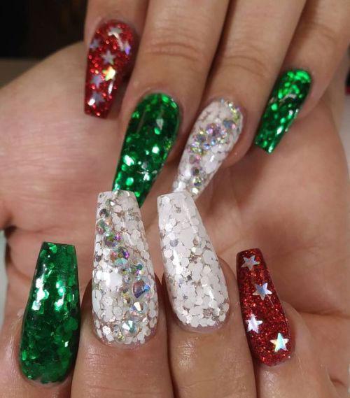 Christmas-Glitter-Nail-Art-Designs-2019-Xmas-Nails-14