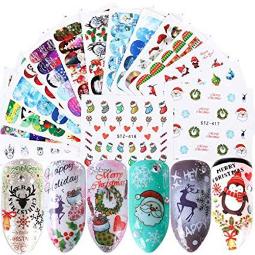 Christmas-Nail-Art-Stickers-Decals-2019-5