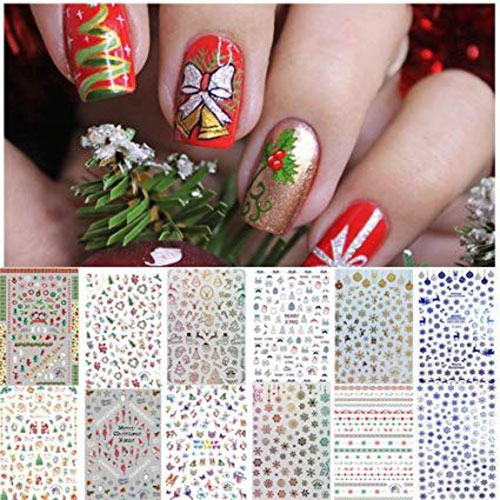 Christmas-Nail-Art-Stickers-Decals-2019-6