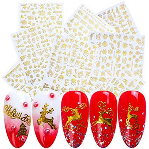 Christmas-Nail-Art-Stickers-Decals-2019-8