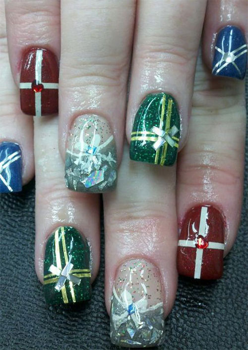 Christmas-Present-Nail-Art-Ideas-2019-Christmas-gift-Nails-13