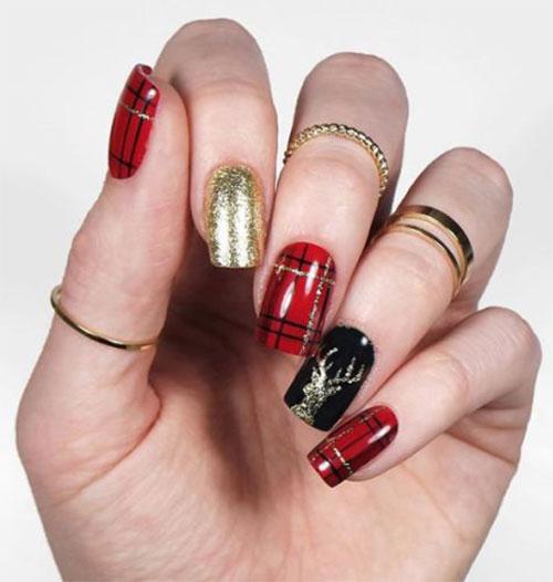Christmas-Reindeer-Nail-Art-Designs-2019-Holiday-Nails-1