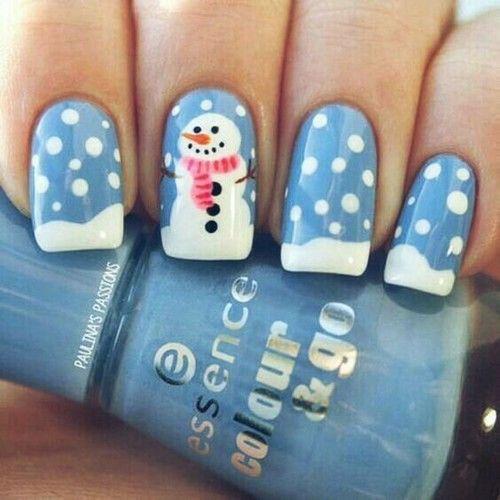 Christmas-Snowman-Nail-Art-Ideas-2019-Xmas-Nails-10
