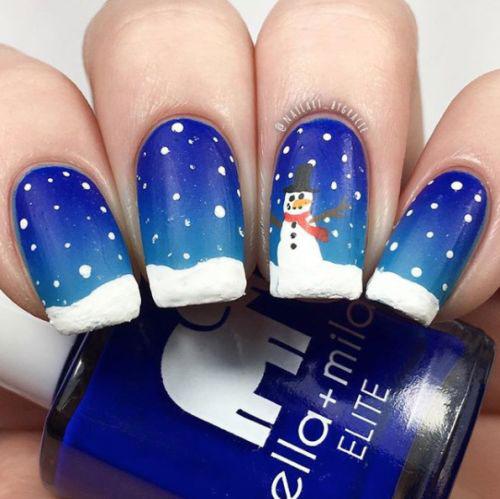 Christmas-Snowman-Nail-Art-Ideas-2019-Xmas-Nails-11
