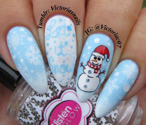 Christmas-Snowman-Nail-Art-Ideas-2019-Xmas-Nails-2