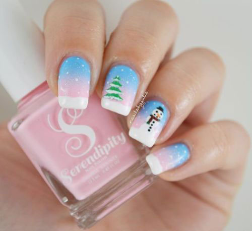 Christmas-Snowman-Nail-Art-Ideas-2019-Xmas-Nails-4