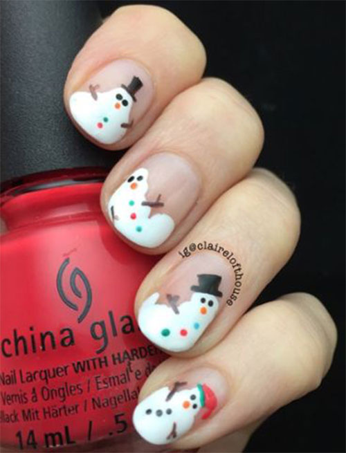 Christmas-Snowman-Nail-Art-Ideas-2019-Xmas-Nails-7