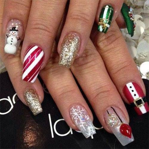 Christmas-Snowman-Nail-Art-Ideas-2019-Xmas-Nails-9