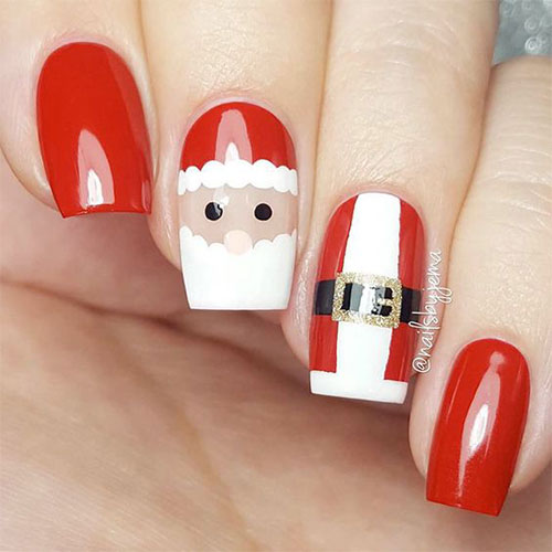 Cute-Simple-Easy-Christmas-Nails-Art-Designs-2019-1