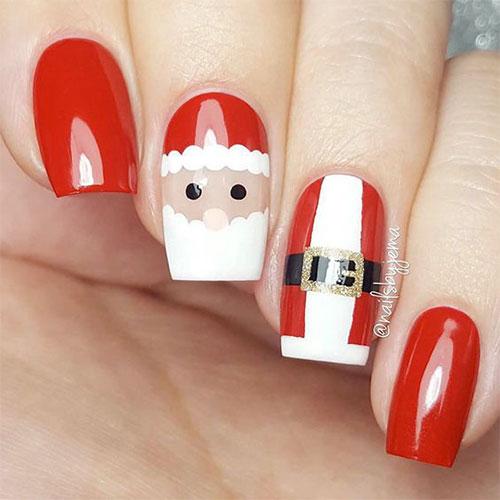Cute-Simple-Easy-Christmas-Nails-Art-Designs-2019-1