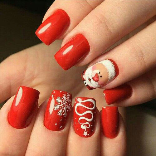 Cute-Simple-Easy-Christmas-Nails-Art-Designs-2019-13