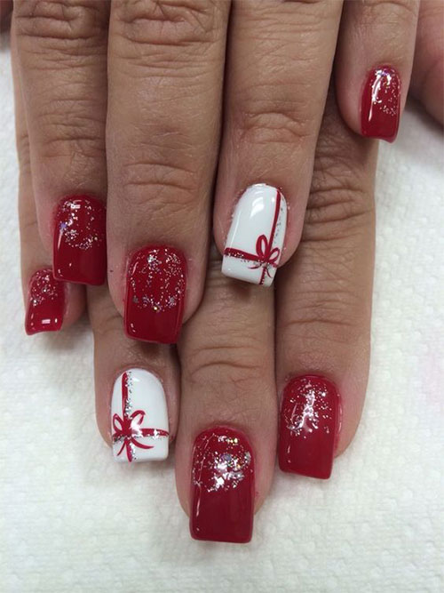 Cute-Simple-Easy-Christmas-Nails-Art-Designs-2019-5