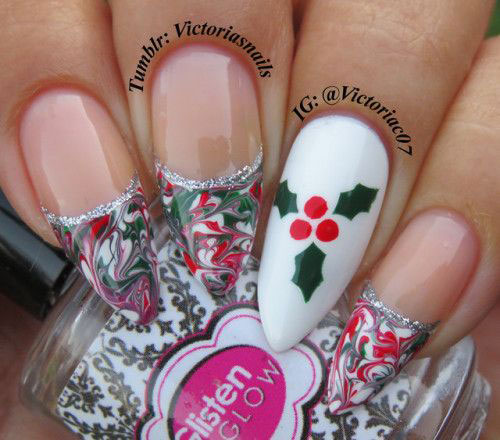 Cute-Simple-Easy-Christmas-Nails-Art-Designs-2019-6