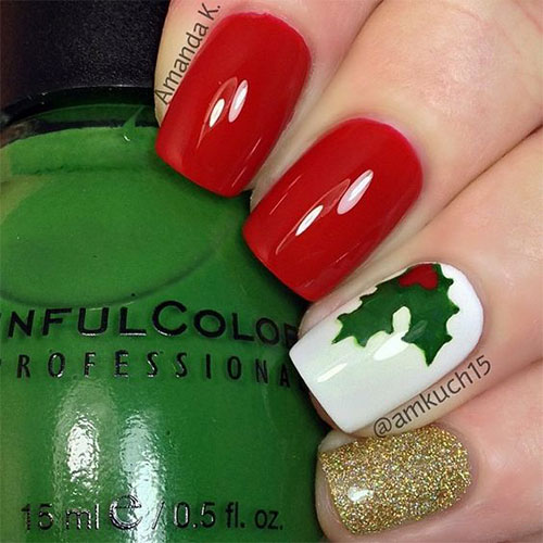 Cute-Simple-Easy-Christmas-Nails-Art-Designs-2019-7