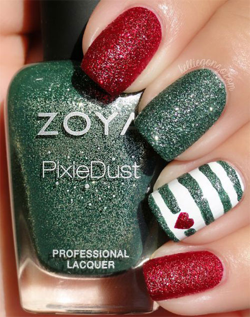 Cute-Simple-Easy-Christmas-Nails-Art-Designs-2019-8