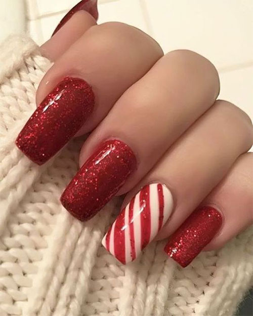 Cute-Simple-Easy-Christmas-Nails-Art-Designs-2019-9