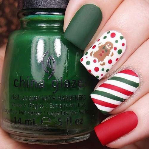 Gingerbread-Men-Christmas-Nails-Art-Designs-2019-12