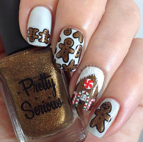Gingerbread-Men-Christmas-Nails-Art-Designs-2019-15