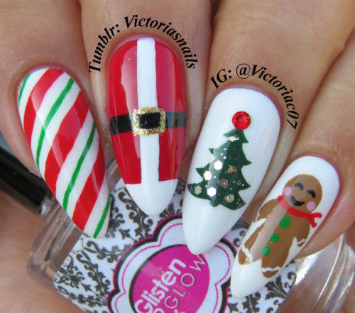 Gingerbread-Men-Christmas-Nails-Art-Designs-2019-4