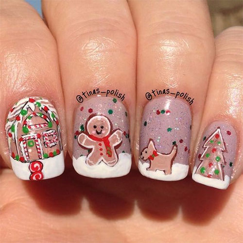 Gingerbread-Men-Christmas-Nails-Art-Designs-2019-6