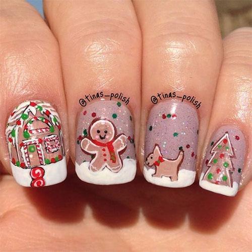 Gingerbread-Men-Christmas-Nails-Art-Designs-2019-6