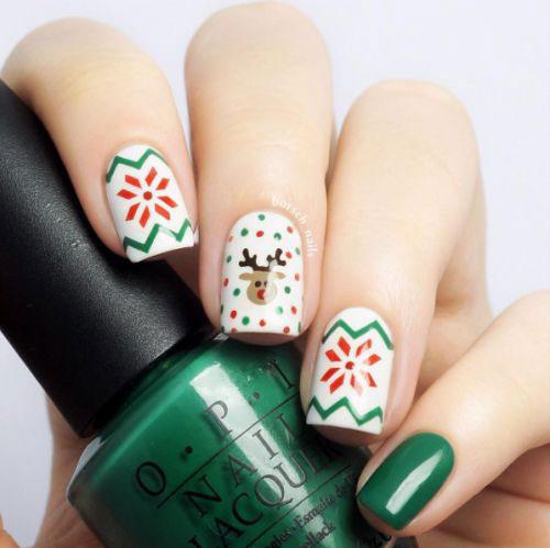 Ugly-Christmas-Sweater-Nail-Art-Designs-2019-Holiday-Nails-15