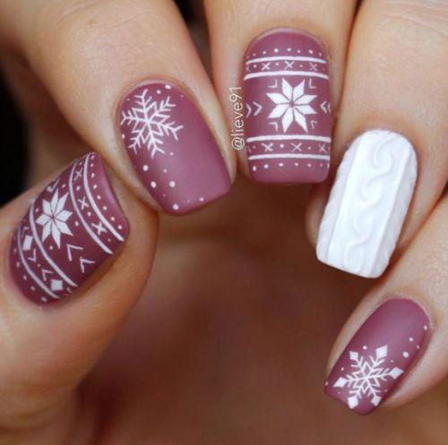 Ugly-Christmas-Sweater-Nail-Art-Designs-2019-Holiday-Nails-2
