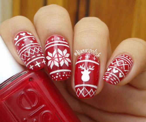 Ugly-Christmas-Sweater-Nail-Art-Designs-2019-Holiday-Nails-9
