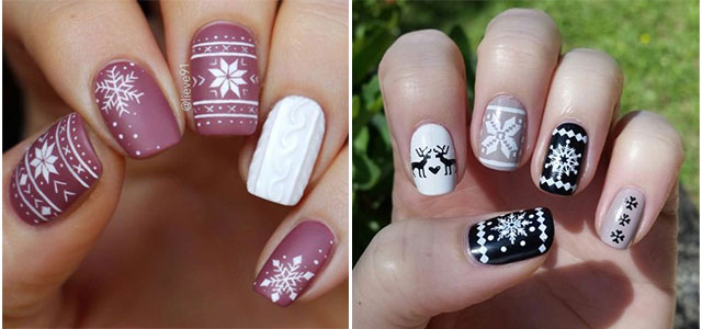 Ugly-Christmas-Sweater-Nail-Art-Designs-2019-Holiday-Nails-F