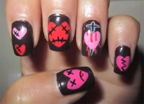 15-Anti-Valentine's-Day-Nail-Art-2020-1