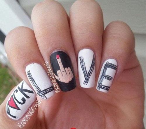 15-Anti-Valentine's-Day-Nail-Art-2020-10