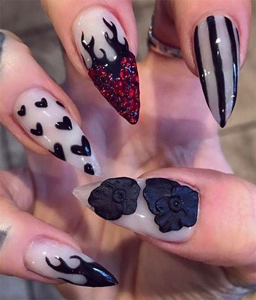 15-Anti-Valentine's-Day-Nail-Art-2020-13