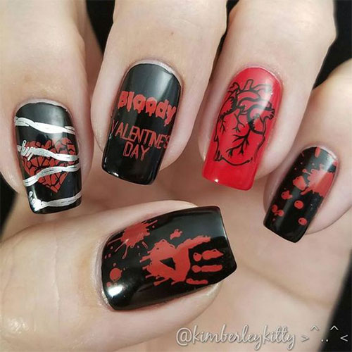 15-Anti-Valentine's-Day-Nail-Art-2020-14