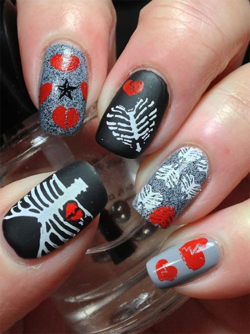 15-Anti-Valentine's-Day-Nail-Art-2020-2