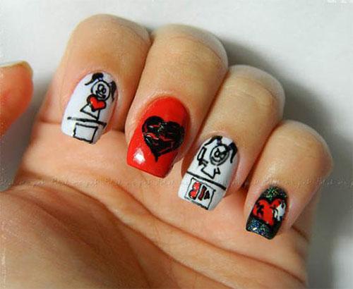 15-Anti-Valentine's-Day-Nail-Art-2020-3