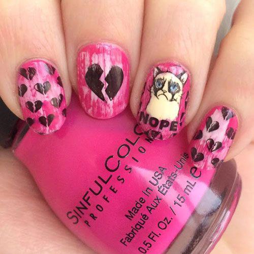 15-Anti-Valentine's-Day-Nail-Art-2020-4