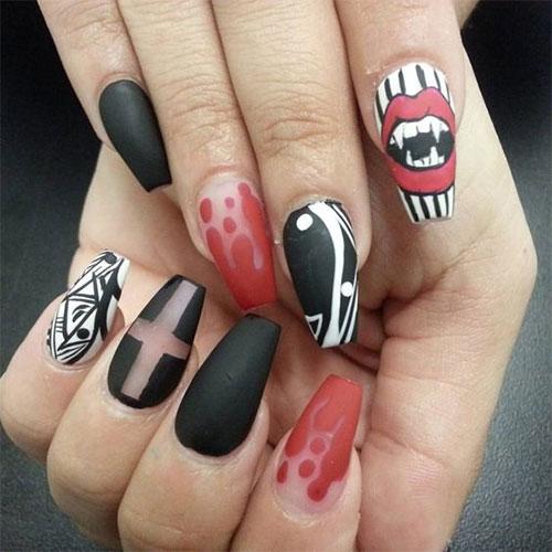 15-Anti-Valentine's-Day-Nail-Art-2020-9