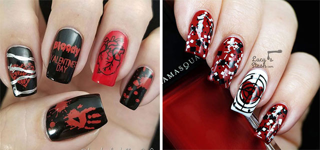 15-Anti-Valentine's-Day-Nail-Art-2020-F