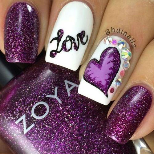 15-Valentine's-Day-Acrylic-Nail-Art-Designs-2020-3