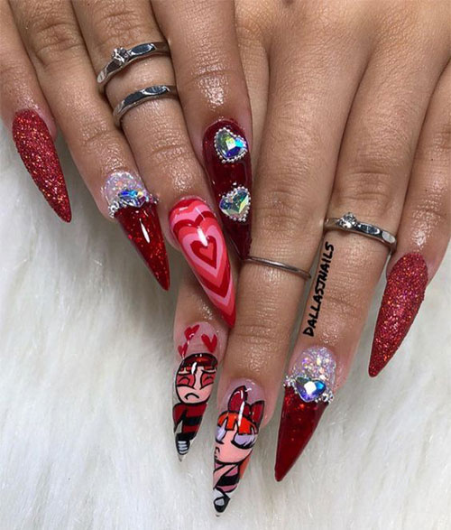 18-Cute-3d-Valentine's-Day-Nail-Art-Designs-2020-Vday-Nails-10