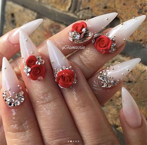 18-Cute-3d-Valentine's-Day-Nail-Art-Designs-2020-Vday-Nails-16