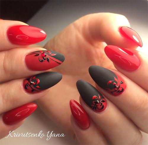 18-Cute-3d-Valentine's-Day-Nail-Art-Designs-2020-Vday-Nails-18