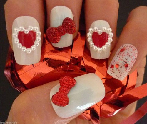 18-Cute-3d-Valentine's-Day-Nail-Art-Designs-2020-Vday-Nails-3