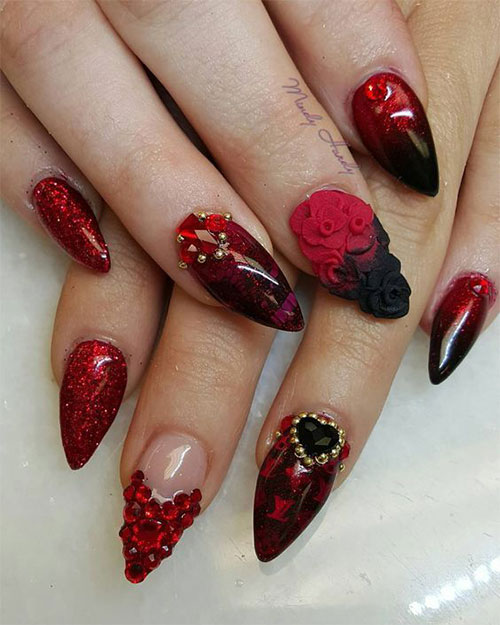 18-Cute-3d-Valentine's-Day-Nail-Art-Designs-2020-Vday-Nails-9