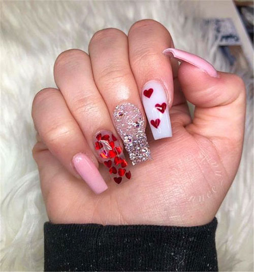 Coffin-Valentine's-Day-Nail-Art-Designs-2020-Vday-Nails-13